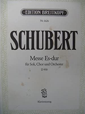 SCHUBERT Franz Messe Es Dur Chant Piano