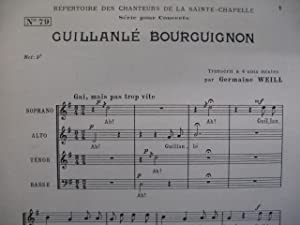 WEILL Germaine Guillanlé Bourguignon Chant Chorale: WEILL Germaine Guillanlé