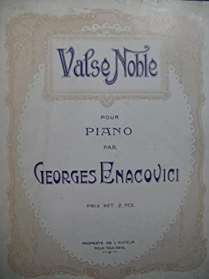 ENACOVICI Georges Valse Noble Piano