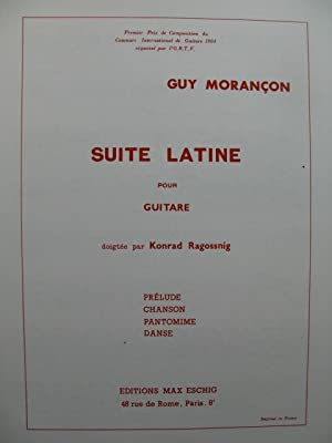 MORANCON Guy Suite Latine Guitare 1966