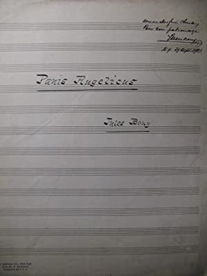 BOUY Jules Panis Angelicus Manuscrit Dédicacé Chant Orgue 1923