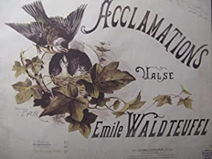 WALDTEUFEL Emile Acclamations Piano 1887
