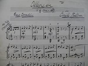 Allegresse Emile Zeltner Manuscrit Accordéon