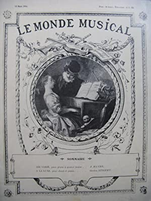Le Monde Musical Piano Chant Piano 4 mains 1914