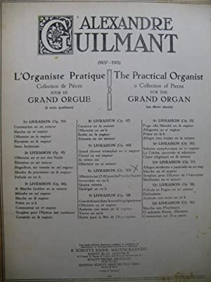 GUILMANT Alexandre L'Organiste Pratique No 6 Orgue