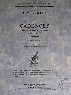 MOSCHELES I. Cadences Beethoven op58 Piano: MOSCHELES I. Cadences