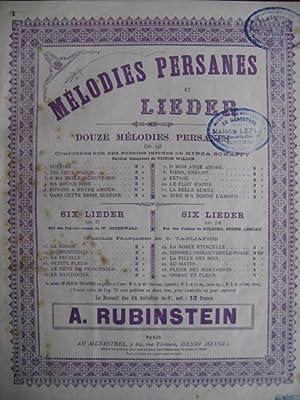 RUBINSTEIN Anton Le Rêve du Prisonnier: RUBINSTEIN Anton Le