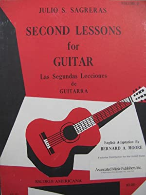SAGRERAS Julio Second Lessons for Guitar Guitare 1975