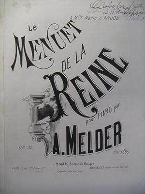 MELDER A. Menuet de la Reine Piano: MELDER A. Menuet