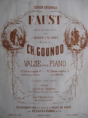 GOUNOD Charles Valse Faust: GOUNOD Charles Valse