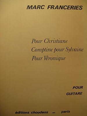 FRANCERIES Marc Pièces pour Guitare 1972: FRANCERIES Marc Pièces
