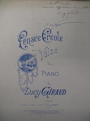 GIRAUD Lucy Pensée Créole Chant Piano XIXe: GIRAUD Lucy Pensée