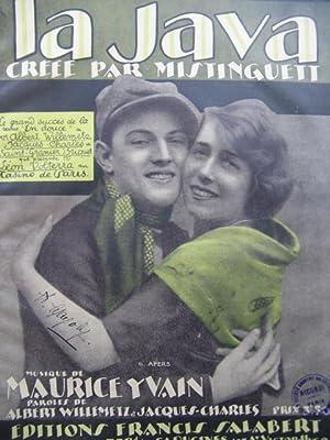 YVAIN Maurice La Java Mistinguett Piano 1922: YVAIN Maurice La