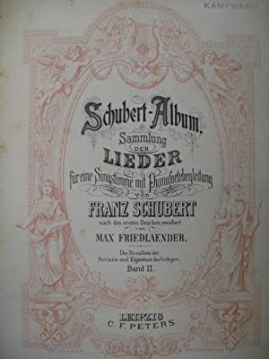 SCHUBERT Franz Lieder Chant Piano 1908