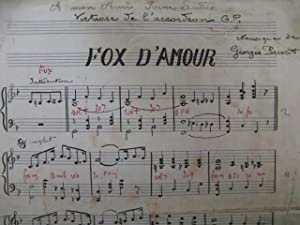 PRIVAT Jo Fox d'Amour Accordéon Manuscrit: PRIVAT Jo Fox