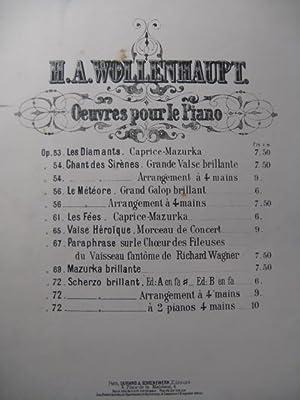 WOLLENHAUPT H. A. Scherzo Brillant Piano 1873: WOLLENHAUPT H. A.