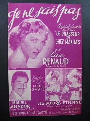 Je ne sais pas Line Renaud Louis: Je ne sais