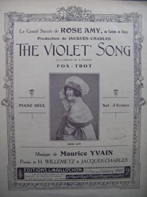 YVAIN Maurice The Violet Song Piano Chant: YVAIN Maurice The