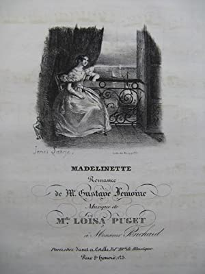 PUGET Loisa Madelinette Piano Chant ca1830