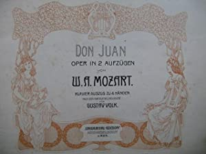 MOZART W. A. Don Juan Opera Piano 4 mains
