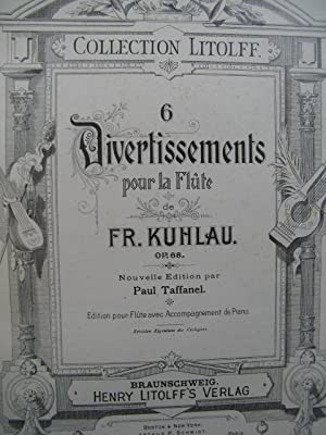 KUHLAU Fr. 6 Divertissements Flute Piano