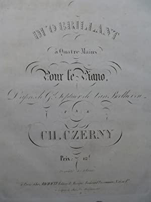 BEETHOVEN CZERNY Grand Septuor Piano 4 mains ca1829