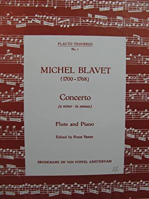 BLAVET Michel Concerto A minor Flûte Piano