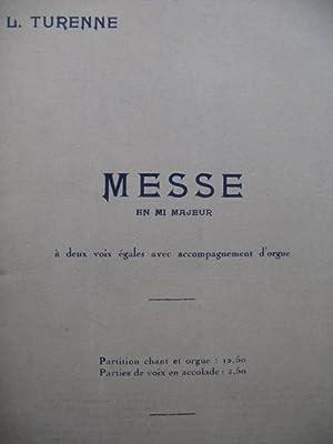 TURENNE L. Messe en mi majeur Chant: TURENNE L. Messe