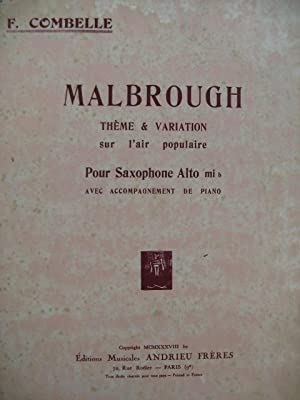 COMBELLE F. Malbrough Saxophone Piano 1938