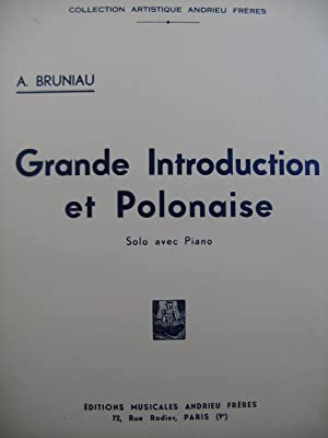 BRUNIAU Auguste Grande Introduction et Polonaise Piano Clarinette