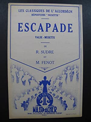 Escapade Valse Musette R. Sudre M. Fenot Accordéon 1953