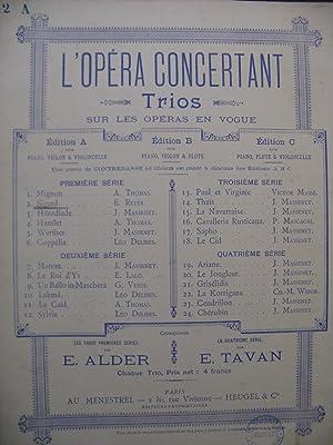 ALDER Ernest Sigurd de Reyer Trio Piano: ALDER Ernest Sigurd