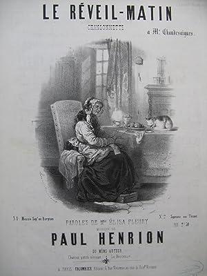 HENRION Paul Le Réveil Matin Chant Piano: HENRION Paul Le