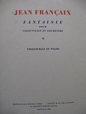 FRANÇAIX Jean Fantaisie Piano Violoncelle 1935: FRANÇAIX Jean Fantaisie