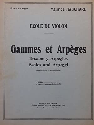 HAUCHARD Maurice Gammes et Arpèges 2e Cahier: HAUCHARD Maurice Gammes