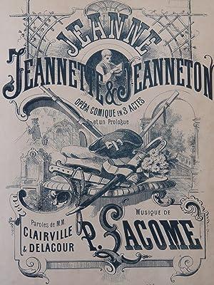 LACOME Paul Jeanne, Jeannette et Jeanneton Opéra: LACOME Paul Jeanne,