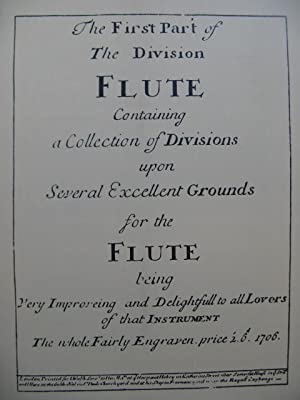 The First and Second Part of the Division Flute