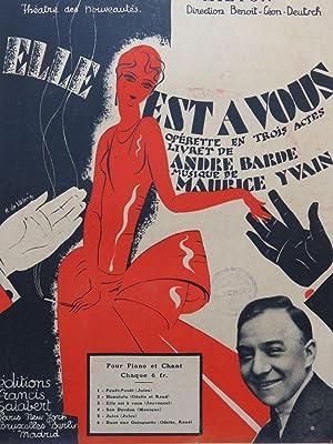 YVAIN Maurice Jules Chant Piano 1919: YVAIN Maurice Jules