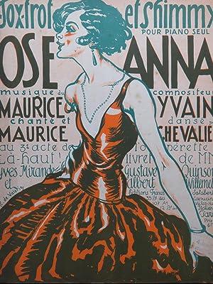 YVAIN Maurice Ose Anna Piano 1923: YVAIN Maurice Ose