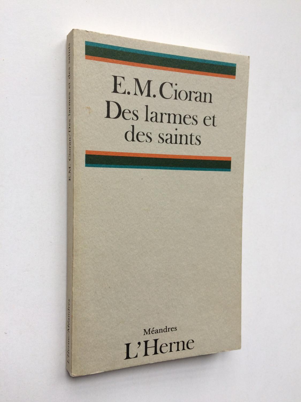 Des_Larmes_et_des_Saints__Avec_ENVOI_de_l_Auteur_sur_SP__CIORAN_EM_Très_bon_Couverture_souple