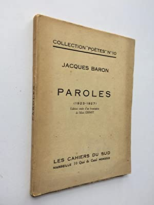 Paroles [ ENVOI de l' Auteur ]