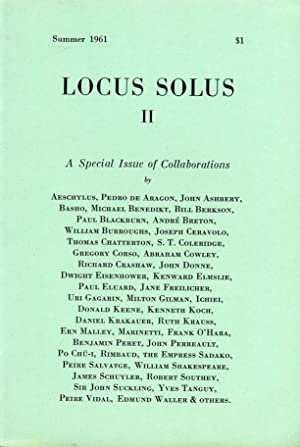 Locus Solus II: A Special Issue of: Ashbery, John, Kenneth