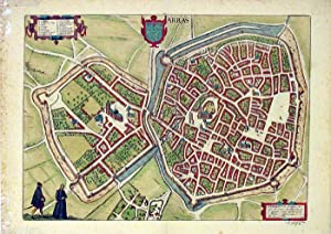 Map of Arras, France, from Civitates Orbis: Braun, Georg and
