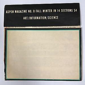 Aspen Magazine No. 8: Art/Information/Science: Graham, Dan (editor)