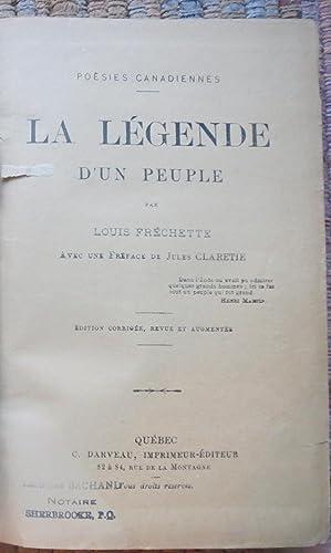 LA LÉGENDE D'UN PEUPLE: FRÉCHETTE, LOUIS.