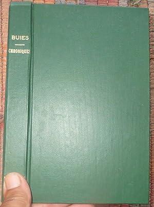 CHRONIQUES CANADIENNES: Humeurs et Caprics. Volume I.: BUIES, ARTHUR
