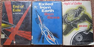 EXILED from EARTH, FLIGHT of EXILES, END of EXILES ( 3 VOLUMES): BOVA, BEN.