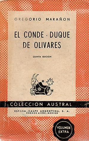 El conde-duque de olivares: Gregorio Maranon