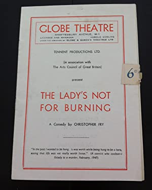 The Lady's Not For Burning ( SIGNED by the Author and 10 Cast members including Richard Burton...