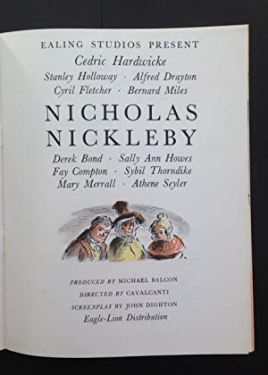 The Life And Adventures Of Nicholas Nickleby (Original Ealing Studios Film Programme Illustrated By...